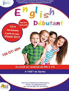 Formation en Anglais débutant