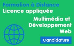 Candidature pour une formation à distance en Multimédia et Développement Web AU 2014/2015